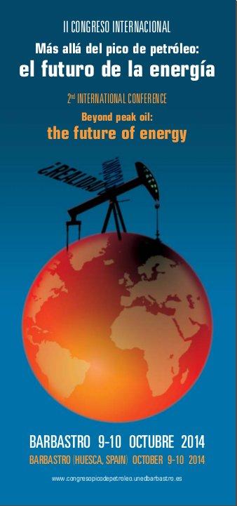 cartel-congreso-pico del petróleo-barbastro-spain-201410