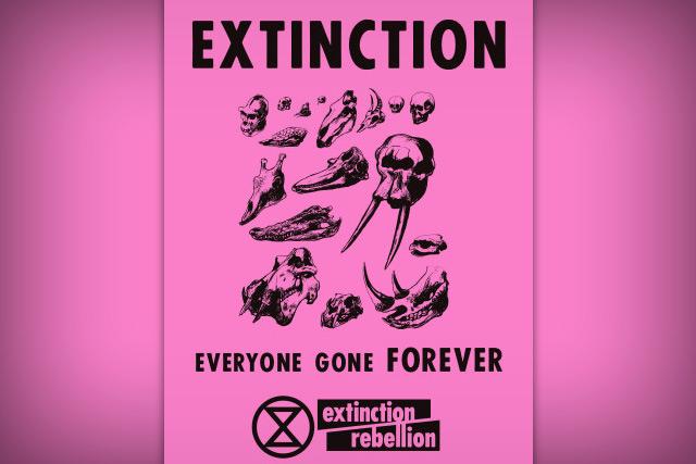 Extintion Rebellion. póster.