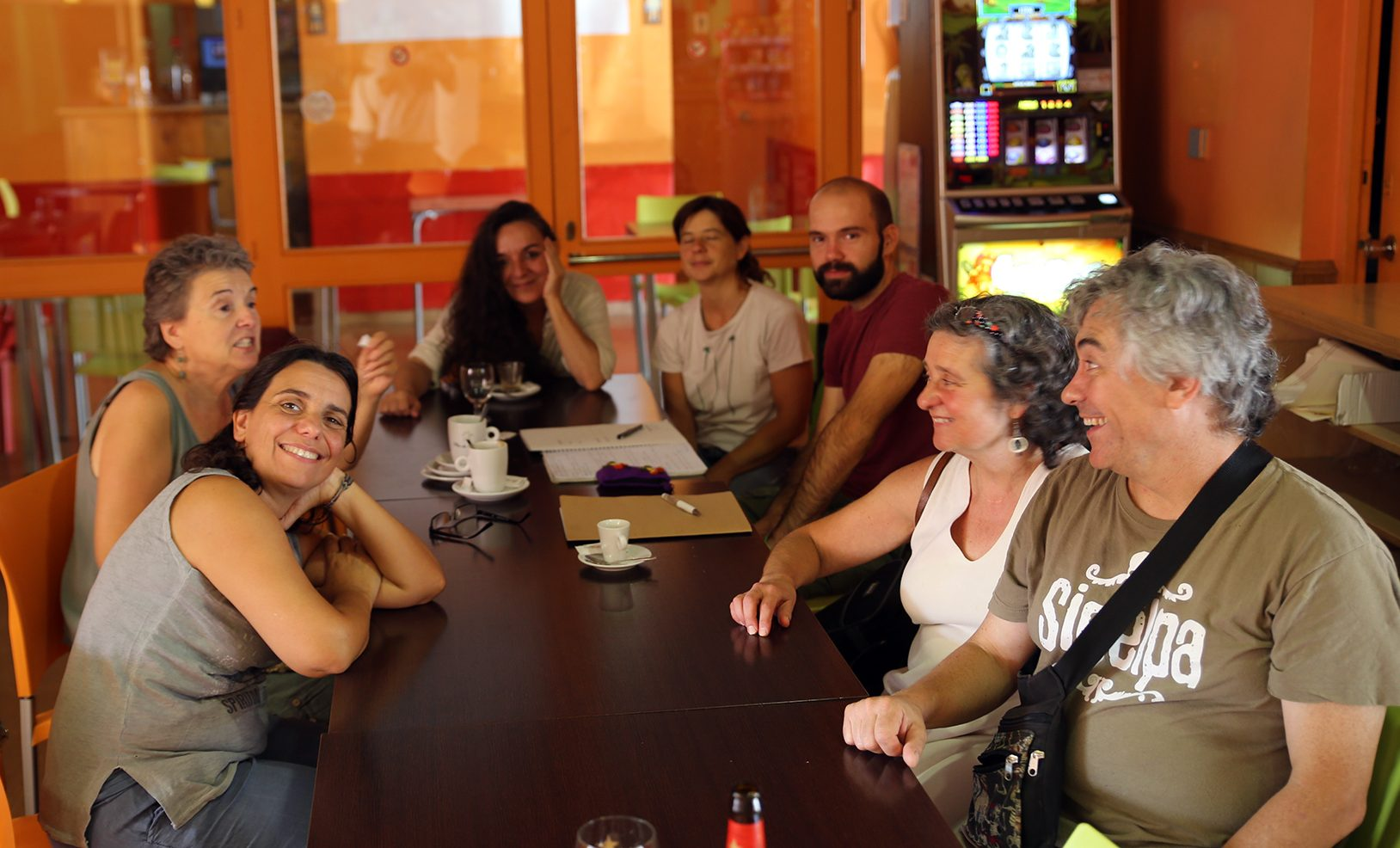 Reunión con representantes de Argelaguer en Transició