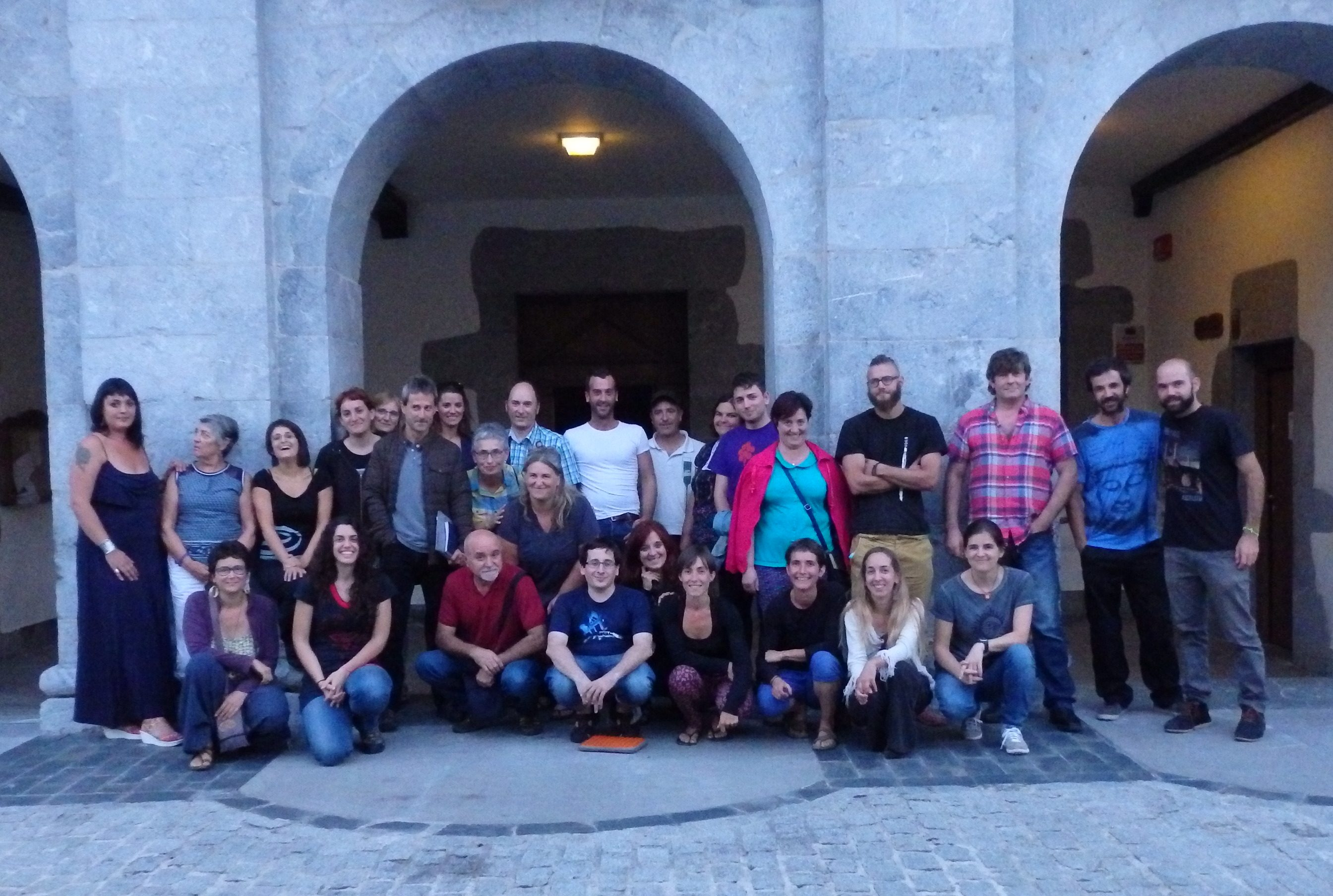 Grupo asistente a la charla-taller en Orendain