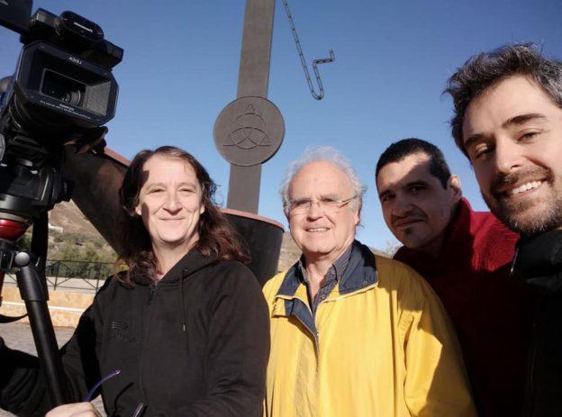 Equipo de rodaje para este viaje: Eli, Agusti, Salva y Juan